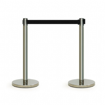 Retractable Barriers- Stainless Steel Black